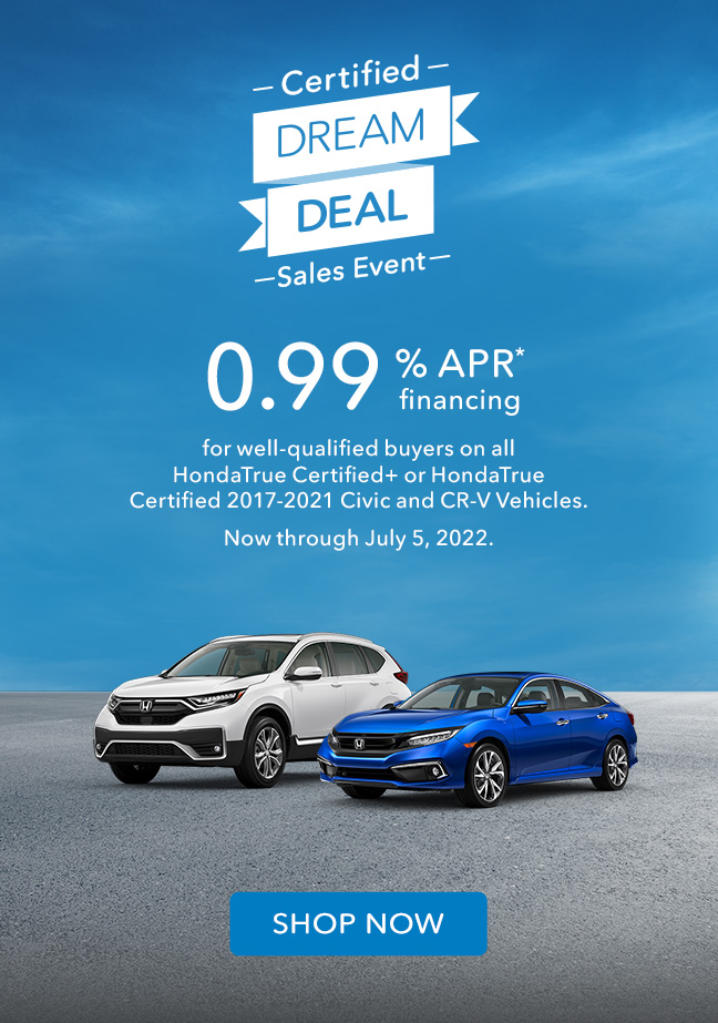Honda Special Offers On Certified Pre Owned Vehicles